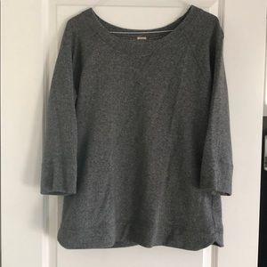 J crew quarter length sleeve, long sweatshirt